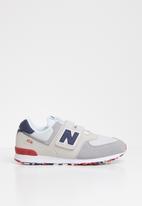 New Balance  - 574 Grade/Pre Velcro - white