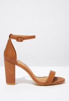 Cotton On - Faux leather heel - tan