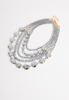 STYLE REPUBLIC - Candace beaded necklace-silver