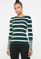 Jacqueline de Yong - Adrian long sleeve pullover top - multi