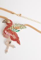 STYLE REPUBLIC - Flamingo statement necklace-multi