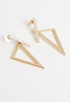 STYLE REPUBLIC - Bethany abstract studs-gold