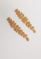 STYLE REPUBLIC - Sylvia statement earrings - orange/gold