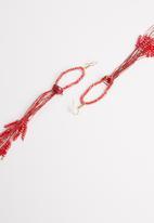 STYLE REPUBLIC - Lois beaded earrings-red