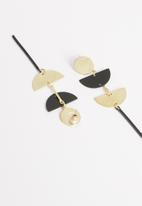 STYLE REPUBLIC - Connie abstract earrings - black & gold
