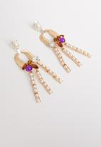 STYLE REPUBLIC - Gail statement earrings- multi
