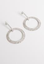 STYLE REPUBLIC - Karen diamante hoops - silver
