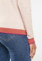 Vero Moda - Karis long sleeve o-neck knit - pink