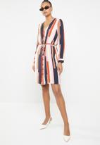 Vero Moda - Matilda long sleeve skirt knee dress - multi