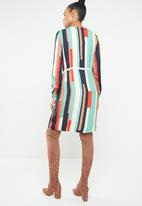 Vero Moda - Matilda long sleeve skirt knee dress - mutli