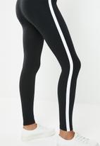 Forever21 - Leggings with side stripe - black