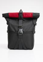 Superbalist - Colourblock backpack - black & red