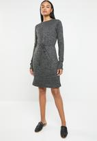 edit - Drawcord dress - charcoal