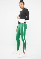 Forever21 - Leggings with side stripe - green & white