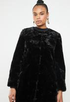 STYLE REPUBLIC - Faux fur coat - black