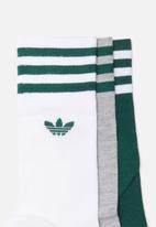 adidas Originals - Solid crew originals 3 pack socks - multi