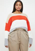 Missguided - Curve crew neck stripe jumper - multi