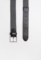 Tommy Hilfiger - Elasticated belt - black & grey