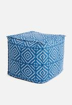 Sixth Floor - Twill ottoman - blue print