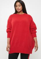 STYLE REPUBLIC PLUS - Oversized knit jersey - red