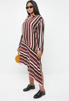 Superbalist - Asymmetrical shirt dress - stripe