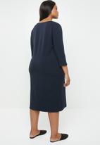 POLO - Scarlet plus size dress - navy