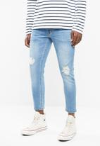 Superbalist - Cropped skinny jeans - blue