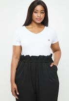 POLO - Plus size kelly short sleeve tee - white