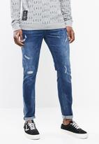 S.P.C.C. - The shadow stitch skinny fit jeans - blue