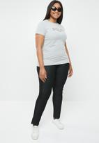 POLO - Plus size alana printed tee - grey