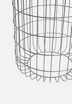 Sixth Floor - Heron basket side table - grey