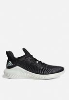 adidas Performance - Alphabounce+ Run Parley M - core black/linen green/ftwr white