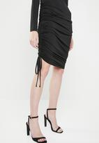 Superbalist - Draw-cord bodycon dress - black