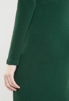Superbalist - Tie front bodycon - green