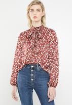 Superbalist - Kitty bow blouse - multi