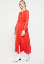 ONLY - Star maxi chiffon dress - orange