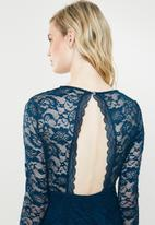 Vero Moda - Lucia long sleeve lace dress - navy