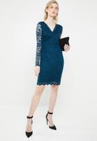 Vero Moda - Lucia long sleeve lace dress - navy