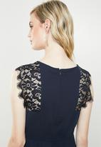 Vero Moda - Lissa lace cap sleeve dress - navy