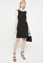 Vero Moda - Lissa lace cap sleeve dress - black