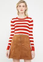 Jacqueline de Yong - Aspen treats stripe jersey - red