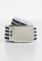 Superbalist - Stripe elastic belt - black & white