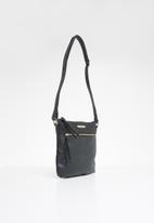 BLACKCHERRY - Tassel detail cross body square bag - black