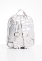 POP CANDY - Girls backpack with front zip - silver