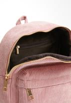 POP CANDY - Corduroy backpack - pink