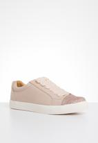 ONLY - Skye glitter toe cap sneaker - pink