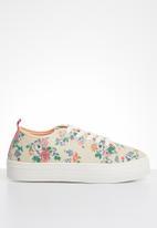 ONLY - Sarina flower sneaker - white