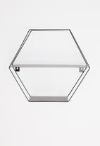 Sixth Floor - Hexagon shelf - black