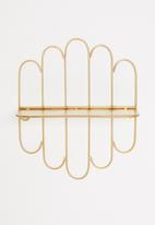 Sixth Floor - Gill rounded shelf - gold
