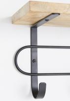 Sixth Floor - Aiden wall hook - black/wood